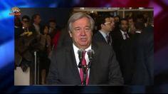 آنتونیو گوترز دبیر کل جدید ملل متحد–  ۲۲ مهر ۱۳۹۵