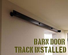 barn door track installed