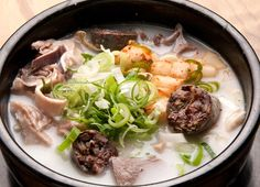 Soondaeguk is a soup variation of sliced soondae sausages and noodles in a mild pork or even ox bone broth. @whatsupseoul  whatsupseoul.com