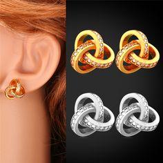 Crystal Zirconia Mystic Topaz Heart Drop Earrings For Women Fashion Jewelry Gift Romantic Gold Plated Dangle Earrings E1184 – storeexa.com