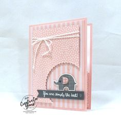 Simply The Best-Printable Tutorial Simply The Best-Printable Tutorial Gabi Altmann buhtatze catalog 2018 2019 Simply The Best by Wendy Lee Tutorial stampin Up SU nbsp hellip Shower girl card Baby Girl Cards, New Baby Cards, Your Cards, Baby Dekor, Teachers Day Card, Little Elephant, Elephant Baby, Baby Shower Cards, Baby Design