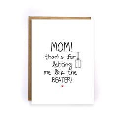 Items Similar To Thank You Mom Card Mothers Day Birthday Funny From Son Kids Blank Greeting Cards For GC190 On