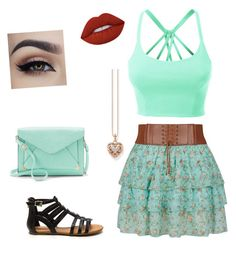 """""""Summer time!"""" by mollysperry on Polyvore featuring LE3NO, Thomas Sabo, Apt. 9 and Lime Crime"""
