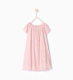 Shiny tulle dress