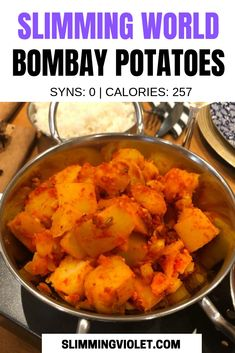 Slimming World Bombay Potatoes Recipe Slimming World Curry, Slimming World Vegetarian Recipes, Slimming World Fakeaway, Slimming World Dinners, Slimming Eats, Slimming Recipes, Healthy Recipes, Healthy Meals, Healthy Food