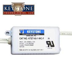 KEYSTONE KTET-60-1-WC-F 60W 120 Volt 12 Volt Halogen Transformer