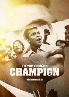 Sports graphic design I'm the people's champion
