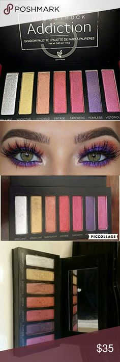Younique Palette 5🦄 Such a fun, versatile palette! Also known as the unicorn palette! Has 7 bold, vibrant colors lightly used, maybe a handful of times! Younique Makeup Eyeshadow