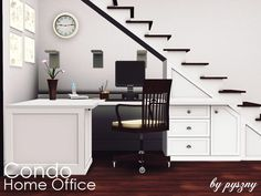 Condo Home Office is for those sims who like to work in open space. It simply use of space in small houses where every inch is really important. Why you have to add another room to work when u can...