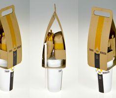Embalagem Fast Food  Como gerar menos lixo, com menos embalagem? Que tal o projeto do designer Seulbi Kim?
