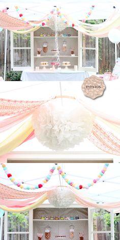 love this idea Cupcake Party, Cupcake Fondue, Sprinkles, Fondue Party, Sprinkle Party, 3rd Birthday Parties, Birthday Ideas, Baby Girl Birthday, Party Planning