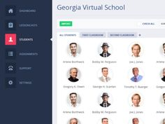 Dribbble - Dashboard / Students Page by Daniel Morar