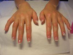Glitter French Manicure | French,Fiore e Coccinella | …LE UNGHIE DI VALENTINA…