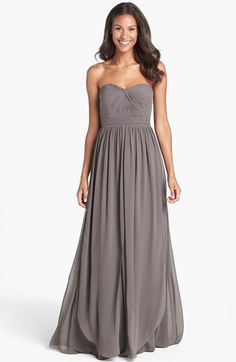 Jenny Yoo 'Aidan' Convertible Strapless Chiffon Gown (Regular & Plus Size) | Nordstrom