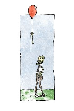 If you are a fan of zombies or the Walking Dead then check out Zomics Comics. Zomics is a funny take on the zombie apocalypse. Life with zombies will be a little scary, a little gross and a lot of funny. Zomics Comics are a funny zombie comic strips that hold up without text. Great idea unless you want people to find them on the web, so here is the much needed description for this Zomics Comic strip #001 Red Balloon. A very sad and confused zombie loses his red balloon.