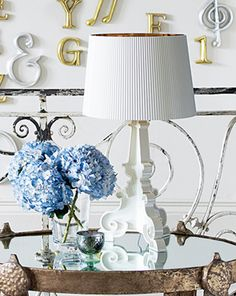 Kartell Bourgie Lamp obsession ...  in white & gold