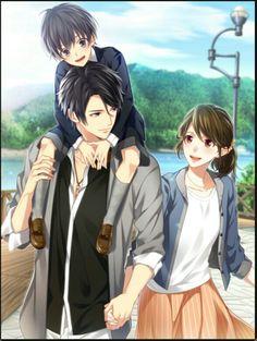 It'S like a family cute anime couples, anime love couple, couple cartoon, manga Couple Anime Manga, Couple Amour Anime, Anime Girls, Manga Anime, Anime Couples Drawings, Anime Child, Anime Love Couple, Anime Couples Manga, Cute Anime Couples