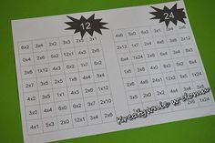Matematyczna droga z tabliczką mnożenia w tle | Kreatywnie w domu