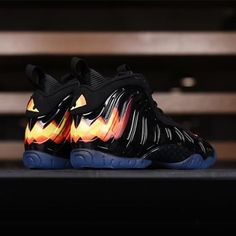 """Call the clowns. The Nike Lil Posite Pro """"Halloween"""" is available at kickbackzny.com. Gradeschool sizes only."""