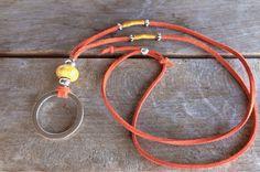 Eyeglass lanyard,trendy eyeglass necklace, orange eyeglass cord by LunaDeCoco on Etsy