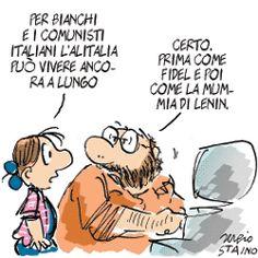 Sergio Staino - l'Unità 25 marzo 2008