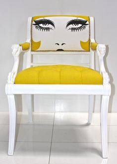 home diy Idea Box by Marilee H inspiration painted upholstery diy home decor painted furniture reupholster Image Credit Room Service Store The post home diy Idea Box by Marilee H appeared first on Upholstery Ideas. Funky Painted Furniture, Painted Chairs, Unique Furniture, Diy Furniture, Furniture Design, Hooker Furniture, Timber Furniture, Country Furniture, Lounge Furniture