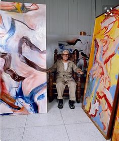 William de Kooning in his studio, 1982