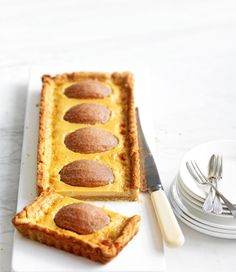Nashi Pear Butterscotch Tart Recipe