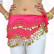 Belly Dance Dancing Hip Scarf  Belt Beads Coins Silver /& Gold Metal King TUT 413