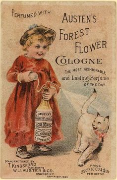Awesome vintage cologne advertisement