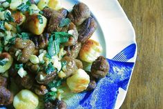 Acorn Gnocchi with Sage Butter Sauce // by Cauldrons + Crockpots