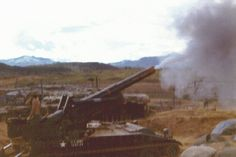 """Armored Artillery, 155mm. Fire Mission. """"On the way, Wait. Splash 38 seconds, Over. Roger Good Copy Redleg 44, Out."""""""