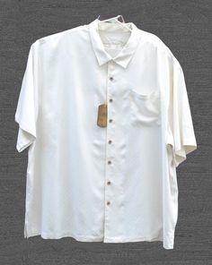 43868b1fb32aca Tommy Bahama Men s Tiki Bay Silk Casual Short Sleeve Big and Tall Shirt 4XB  NEW