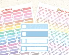 PRINTABLE Pastel Color Planner Stickers Square, Planner Stickers, Rainbow Stickers, Stickers Erin Condren, Digital Planner Stickers