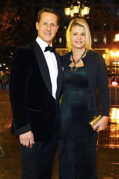 Michael Schumacher et sa femme Corinna lors du 31eme Gala des Legendes du Sport, Deutscher Sportpresseball, à l'opéra de Francfort le 10 novembre 2012