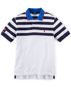 Ralph Lauren Boys\u0026#39; Striped Mesh Polo