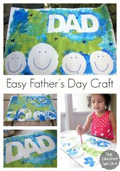 Easy Father's Day Craft with Kids to make and give to Dad.