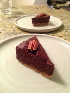 Raw Chocolate Pecan Brownie.  Raw. Vegan. Gluten Free. Dairy Free. Refined Sugar Free.