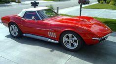 1969 Monza Red Corvette