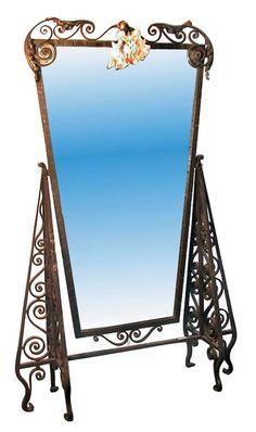 Art Deco Wrought Iron Dressing Mirror
