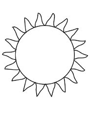 sun printable coloring page Summer Printable Coloring Pages