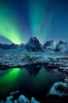 Into the night | Aurora Borealis by Nagesh Mahadev