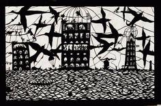 En San Miguel de Allende podemos encontrar hermosas pinturas que en lugar de estar hechas de oleo o tela, la autora principal las elabora a base de papel, diferentes tipos de tijeras, cuchillos y cinceles, plasmando un entorno prehispánico festivo.