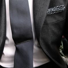 great tie clip and pocket square