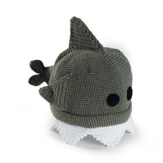 Another super premium, high quality toddler boys hat from www.Melondipity.com.  This Shark Beanie for Toddler Boys is the perfect kids hat for your toddler boy. All little boys love sharks and what better way to show their love of them than wearing one? This crocheted hat is a tight and durable weave making it tough and durable even for a toddler boy.  The hat is gray with black eyes and a white crocheted detail at the brim of the hat for the shark's teeth. There is a fin on top of the hat…
