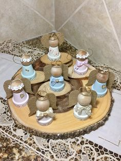 10 Wooden Angels favors Baptism Favor First Communion Favor First Communion Favors, Première Communion, Baptism Favors, Baptism Gifts, Angel Crafts, Christmas Projects, Holiday Crafts, Christmas Angels, Christmas Tree Ornaments