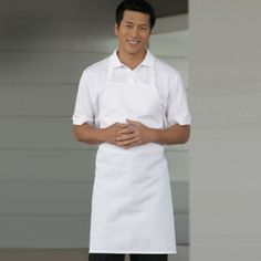 Keep it simple with the economy white bib apron. This affordable cotton bib apron is full length and perfect for the big team with many apron needs. Uncommon Threads, Bib Apron, Aprons, Chef Apron, Bobs Burgers, Mid Length, Erotic, White Dress, Fabric