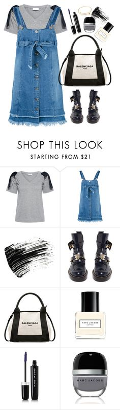 """Steve j"" by thestyleartisan ❤ liked on Polyvore featuring RED Valentino, Steve J & Yoni P, Marc Jacobs and Balenciaga"