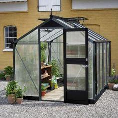 Juliana Greenhouse Compact- Juliana Gewächshaus Compact Juliana Greenhouse Compact x x m, safety glass, glass thickness: 3 mm, anthracite gray) -