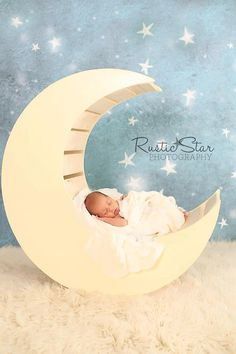 Wooden Moon Photography Prop by TwinkleStarPhotoProp on Etsy, $160.00